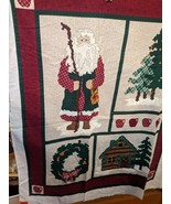 Leslie Beck Cranston VIP Fabric Panel Christmas Wall Hanging Northwoods ... - $14.97