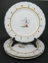 """Fitz & Floyd Regatta Omnibus Nautical Habitat Americana 10.5"""" Dinner Pla... - $73.71"""