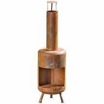 WHW Whole House Worlds Americana Garden Chiminea Fireplace, Rusty Heirlo... - $131.80