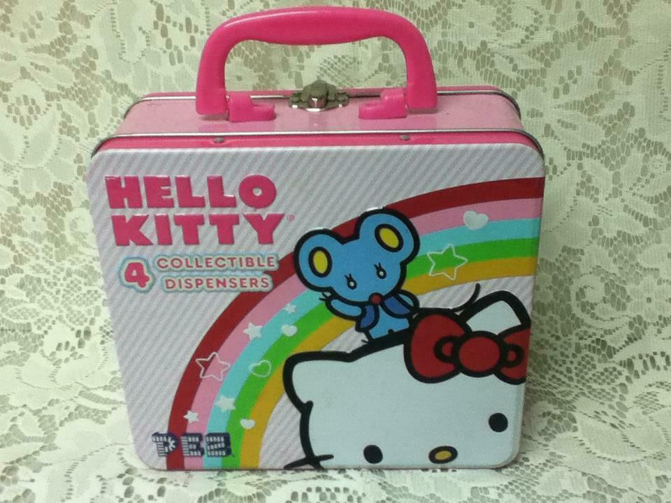 Primary image for Sanrio, Hello Kitty, Pez Dispenser or  7in x 6in Tin  Lunch Box