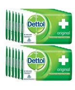 6 x 75g Dettol Original Soap Bar Anti-bacterial Dermatology Tested - Fas... - $24.74