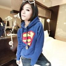 Hot Women New SuperMan Hoodie Fleece Pullover Tops Sweatshirts 8477 X