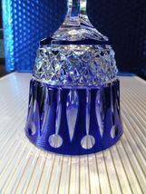 Faberge Xenia Cobalt Blue Crystal Wine Glass without box image 8
