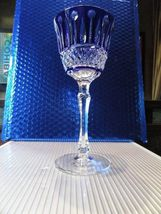 Faberge Xenia Cobalt Blue Crystal Wine Glass without box image 9