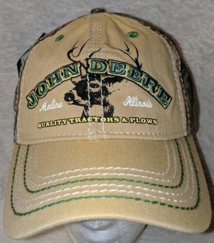 John Deere LP64489 Tan And Mossy Oak Camo Adjustable Baseball Cap