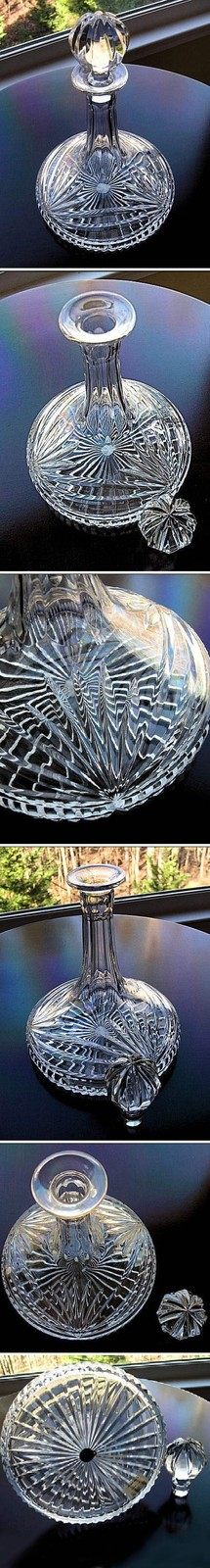 Waterford Marquis Ships Decanter of heavy cut crystal with original box image 2