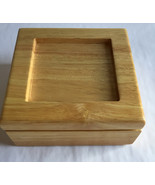 "Jewelry Box Wood hinged Velvet lined 6 1/2"" x 6 1/2"" x 2 1/2"" Personalize - $9.95"