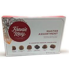 Fannie May Master Assortment 12 Premium Chocolates 4.6 oz