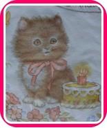 16 VINTAGE Paper Napkins CAT vtg Baby Kitten Kitty Birthday Cake Candle ... - $33.56