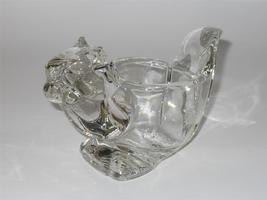 Avon ~ Squirrel ~ Heavy Clear Glass Animal Votive Candle Holder - $19.95