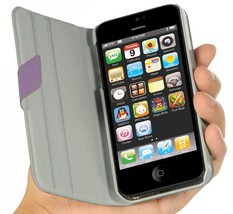 Luxmo Impact-Resistant Cell Phone Stand Dolce Pouch Case the iPhone 5 - Purple image 2