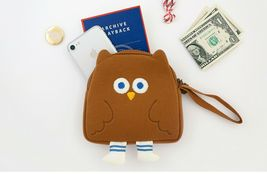 Brunch Brother Flying Owl Pouch Cosmetic Bag Case Organizer (Brown) image 3