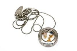 Bracciale Disney Round Locket Necklace Floating Donald Daisy Floating Charms - $24.74