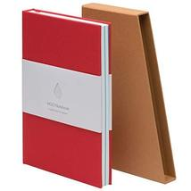 MOO Lined Hardcover Notebook - Premium Red Lay Flat Journal - Medium-siz... - $24.74