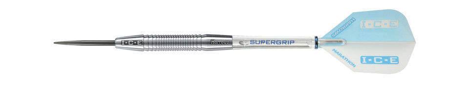 Harrows WHITE ICE 90% Tungsten 23 Gram Steel Tip Darts 23gK