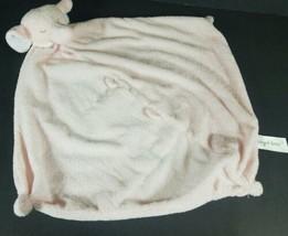 "Angel Dear Pink Plush Elephant Lovey Security Blanket Baby Girl 13"" x 13"" - $14.54"