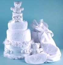 Christening Diaper Cake Baby Gift - $158.00