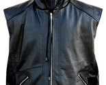Black leather hooded vest front thumb155 crop