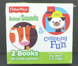 Fisher Price Animal Sounds Counting Fun Books  CDs For Little Learners - $17.81