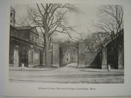 Early 1900s Postcard - Harvard College, Cambridge, Massachusetts - $9.99