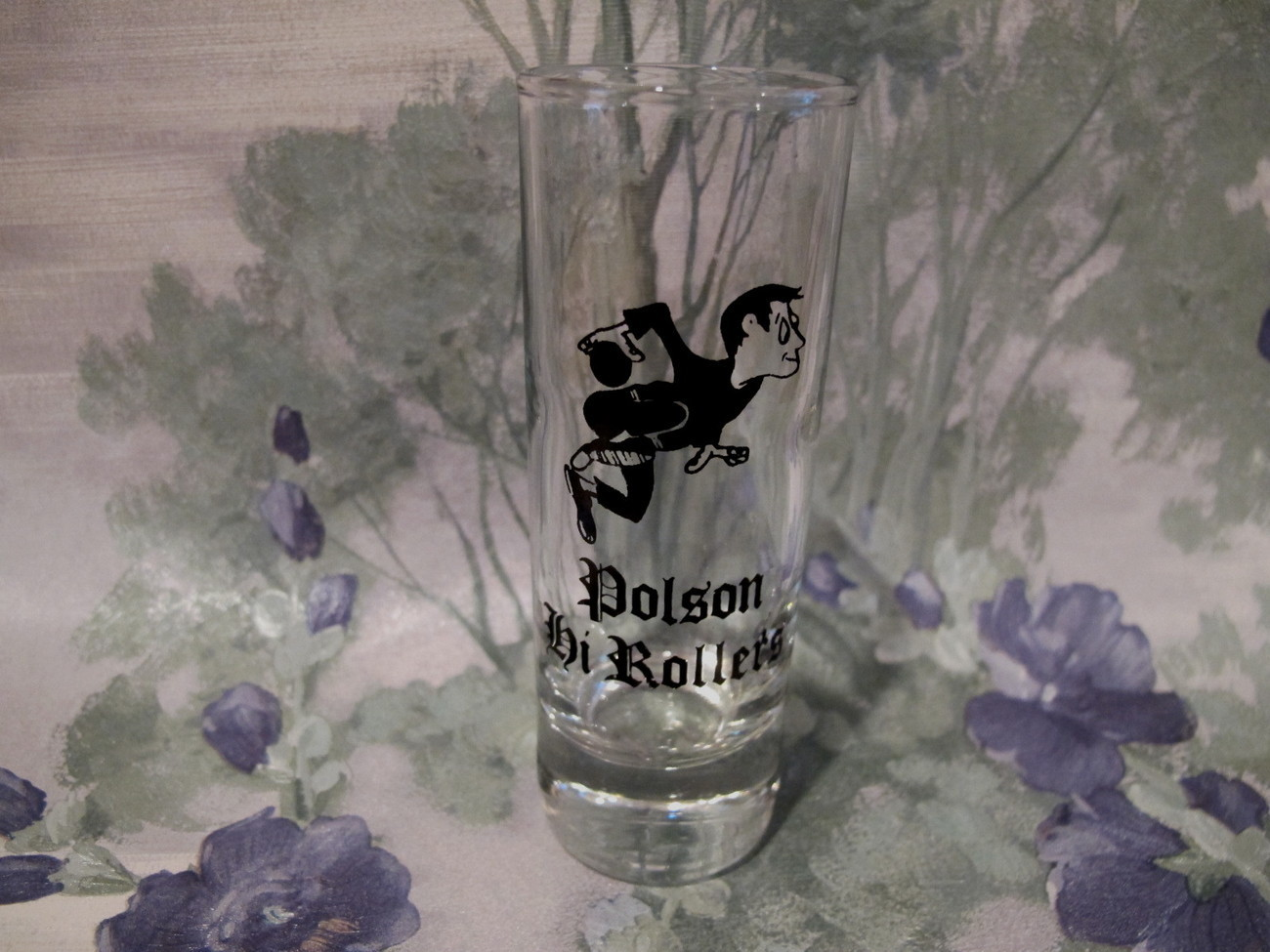Primary image for Polson Hi Rollers Bowling Shot Glass High Souvenir Collector Collectible