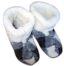GENUINE SHEEP WOOL SLIPPERS BOOTS 100% PURE WOOL MEN  SIZE 10 US/ 9.5 UK... - $15.90