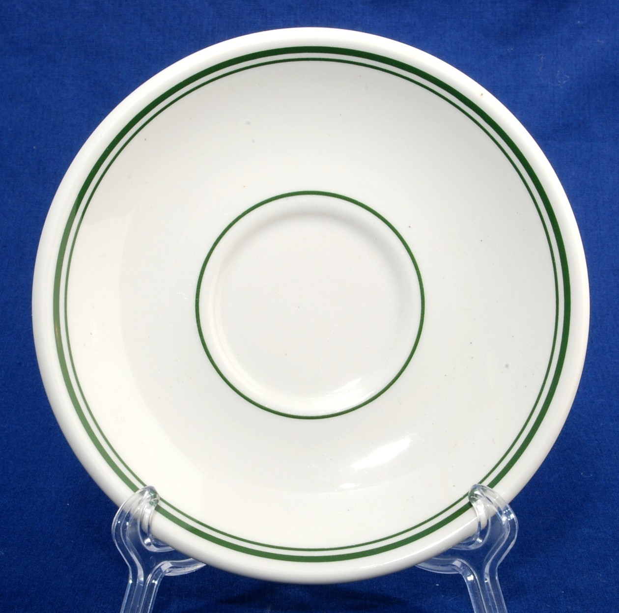 Primary image for Homer Laughlin Restaurant Ware Saucer Green Lines China Unused