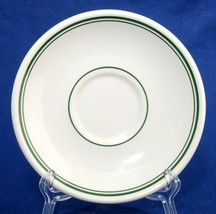 Homer Laughlin Restaurant Ware Saucer Green Lines China Unused - $5.50