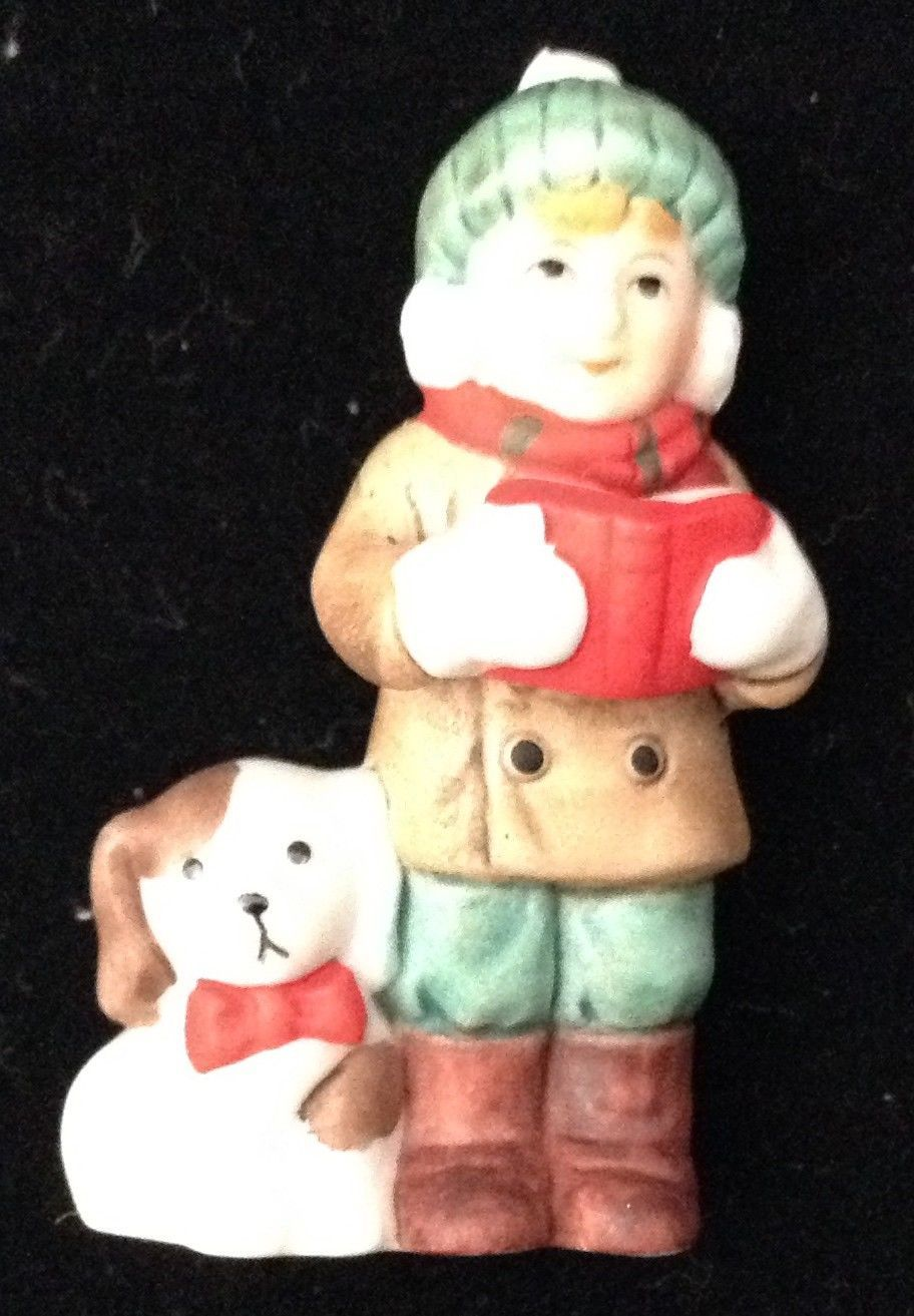 Vtg Lefton Caroler Cates Boy And Dog 34 Similar Items