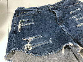 Lee Jeans Distressed Blue Jean Short Shorts Booty Size 8 Long image 2