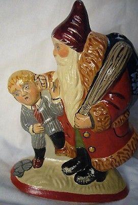 Vaillancourt Folk Art, Santa Caught the Rascal,Personally signed by Judi!