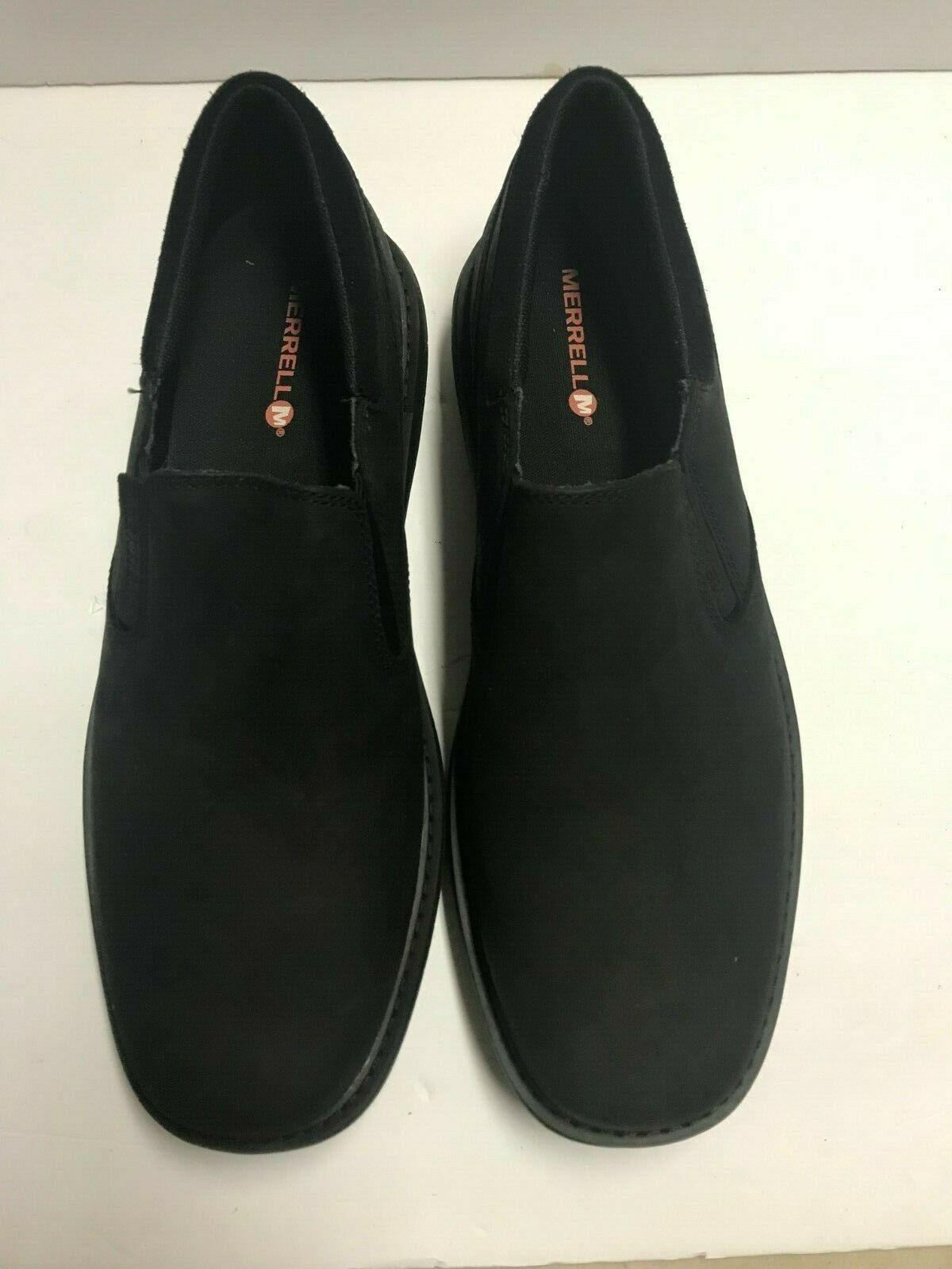 Merrell Men's World Vue Moc Slip-on  Black Size 10 M New