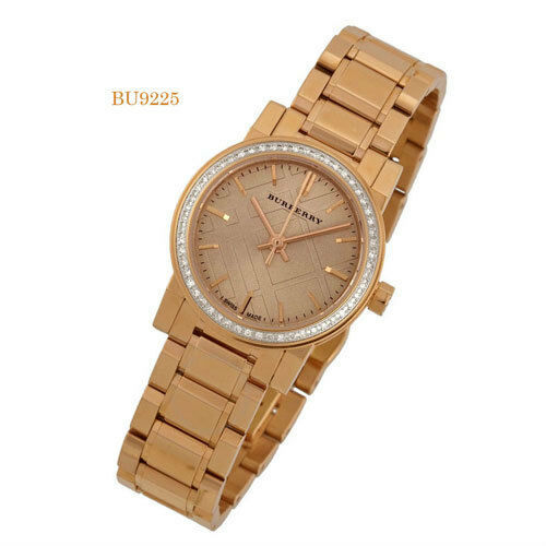 Burberry Rose Dial Diamond-set Bezel rose Gold-tone Ladies Watch BU9225