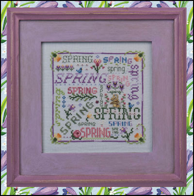 Primary image for Spring Typography cross stitch chart Just Nan