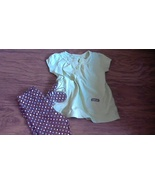 24 mos Carter's toddler girl 2 piece green and brown shirt and pant - $2.00
