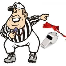 Emergency Soccer Referee With Lanyard Football Whistle Metal image 4
