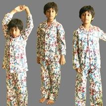 Garçons Pyjama Costume Sommeil Vêtement 100% Coton Doux Imprimé Élastiqu... - $44.08