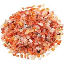 SUNYIK Carnelian Tumbled Chips Stone Crushed Pieces Irregular Shaped Sto... - $26.23