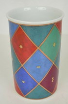 Rosenthal Studio Linie Vase Harlequin Diamond Geometric Pattern Kitty Ka... - $49.50