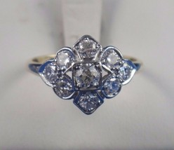 Vintage 14k White Yellow Gold Ring 1.25ct Apprx. F-G Color VS Clarity Si... - $1,484.01