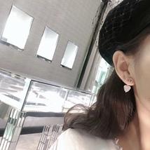 AUTH Christian Dior 2019 CLAIR D LUNE CD CRYSTAL LOGO HEART DANGLE STAR Earrings image 10