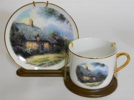 Teleflora Gift ~ Thomas Kinkade ~ Moonlight Cottage ~ Coffee Cup & Saucer Mug - $24.95