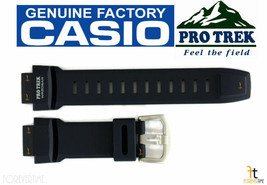 CASIO Pro Trek Pathfinder PRG-280-2 Original NAVY BLUE Rubber Watch BAND... - $52.95