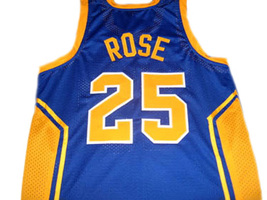 Derrick Rose #25 Simeon High School Men Basketball Jersey Blue Any Size image 2