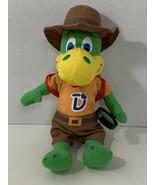 Danonino plush green talking dinosaur backpack magnifying glass SINGS IN... - $7.91