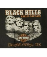 07 Harley Black Hills Rally W Skull Front, Mount Rushmore Back T Shirt T... - $27.80