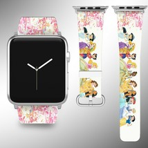 Disney Princess Apple Watch Band 38 40 42 44 mm Fabric Leather Strap 02 - $24.97