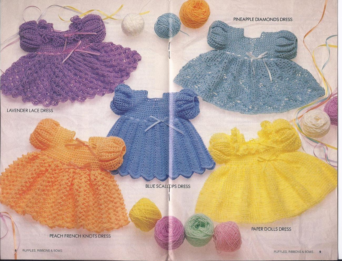 Ruffles ribbons bows baby dresses crochet and 50 similar items bankloansurffo Choice Image