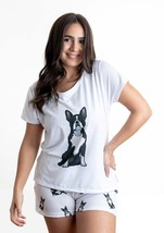 Dog Boston terrier pajama set with shorts for women - $30.00
