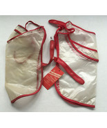 Vintage dog raincoats weather guard clear with red trim movie photo prop  - $24.70